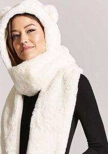 Forever 21 Hooded Polar Bear Scarf